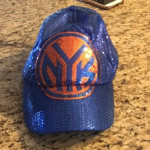 Knicks sequin hat